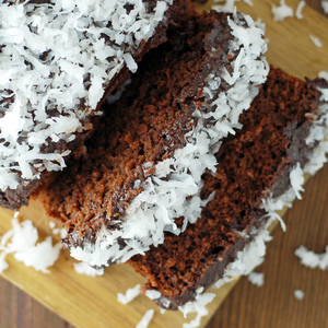 Voting thumbnail chocolate coconut loaf cake