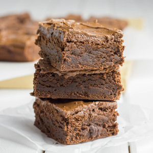 Voting thumbnail double chocolate brownies with coffee