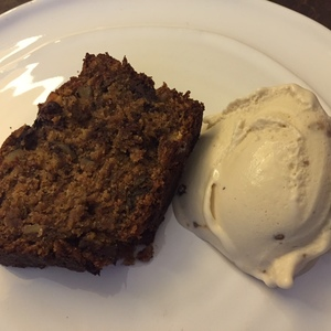 Voting thumbnail banana bread with ice cream